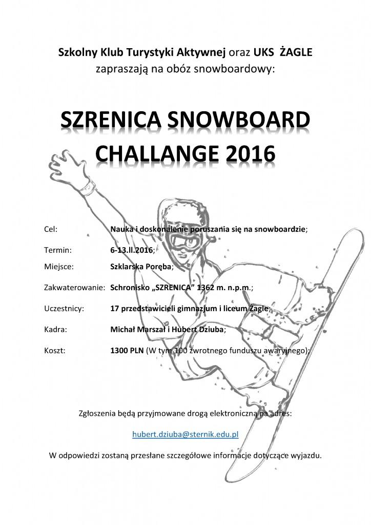 Obóz Zimowy 2016- plakat