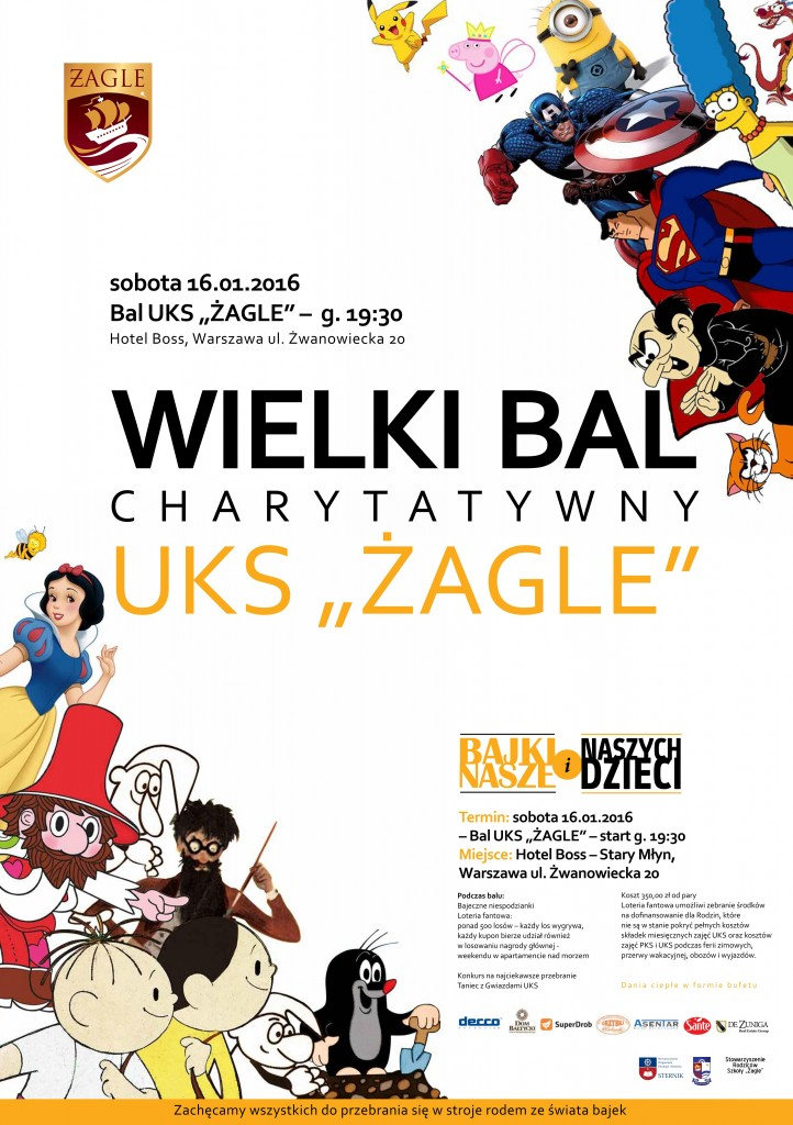 Plakat - Charytatywny Bal UKS - 16.11