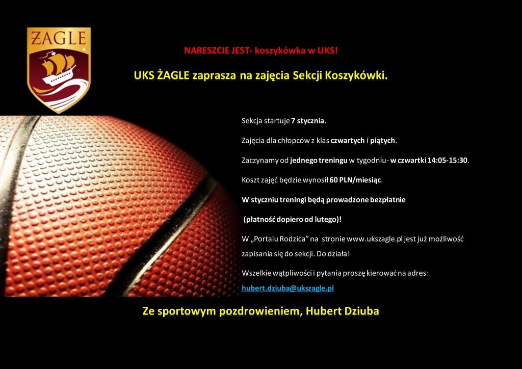 Sekcja koszykówki- plakat 2
