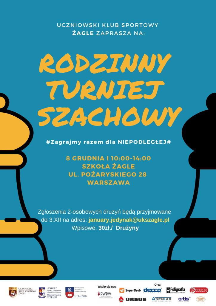 Rodzinny Turniej Szachowy 2018- Plakat-1